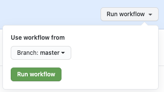 workflow_dispatch trigger on GitHub